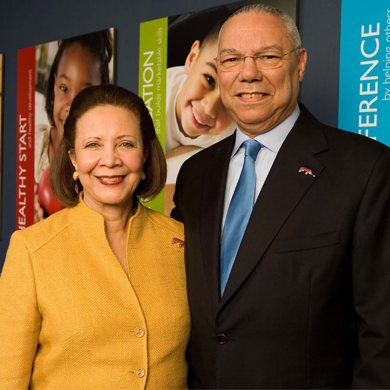 General Colin Powell and Mrs. Alma Powell