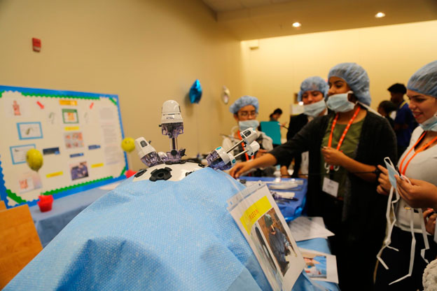 Students participated in hands-on activities at Methodist Dallas Medical Center